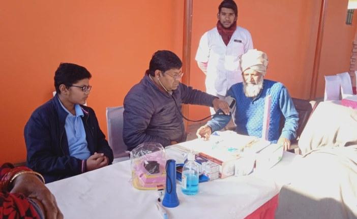 धरोहर संस्था ने आयोजित किया स्वास्थ्य शिविर, 178 लोगों का हुआ स्वास्थ्य परीक्षण