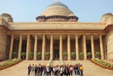 जेडी इंस्टीट्यूट ऑफ फैशन टेक्नोलॉजी के छात्रों ने किया राष्ट्रपति भवन का दौरा